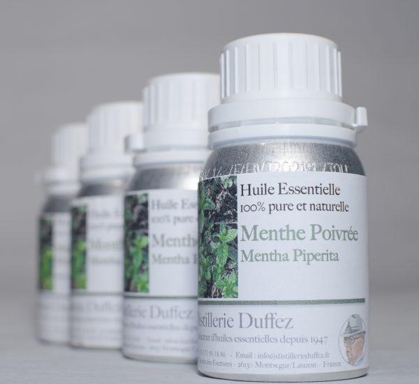 Huile Essentielle de Menthe Poivrée issue de Drôme Provençale produite par la Distillerie Duffez producteur d'Huiles Essentielles depuis 1947