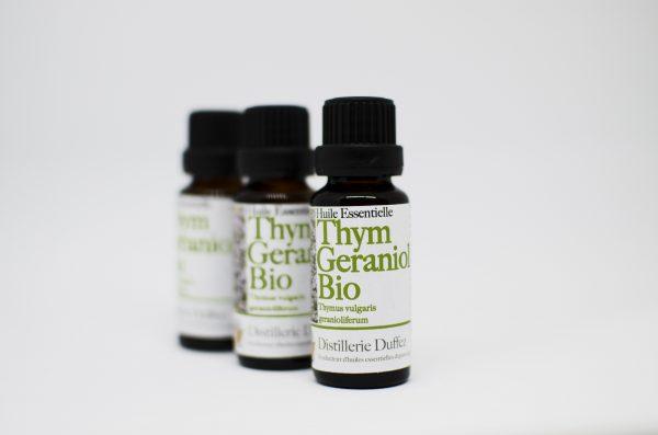 huile essentielle Thym géraniol bio